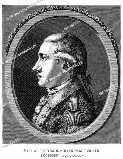 Duke Karl August (1757-1828), drawing from 1780