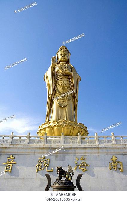 Asia,China,Zhejiang Province,Putuoshan,Purple Bamboo Forest Scenic Area,Statue of Guanyin