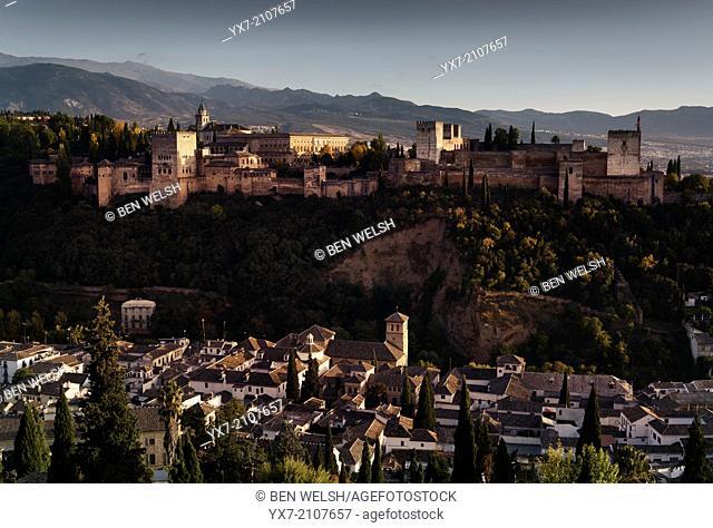 La Alhambra de Granada, Granada, Andalusia, Spain