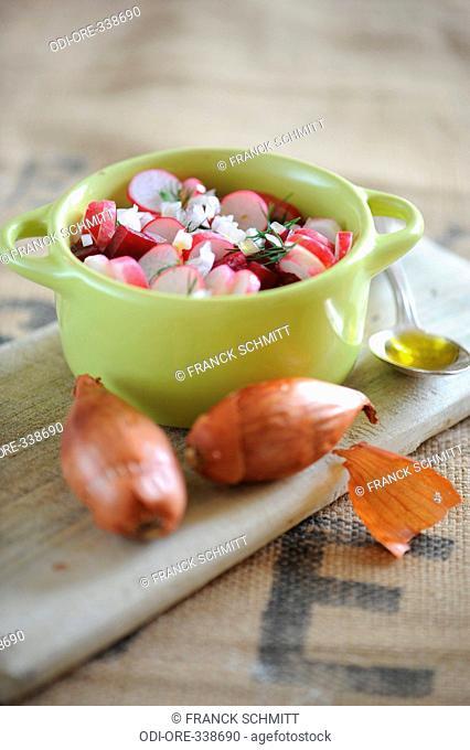 Salad radish beetroot mustard