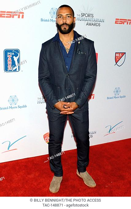 Omari Hardwick attends the 3rd Annual Sports Humanitarian of the Year Awards at LA LIVE'S The Novo in Los Angeles on July 11, 2017