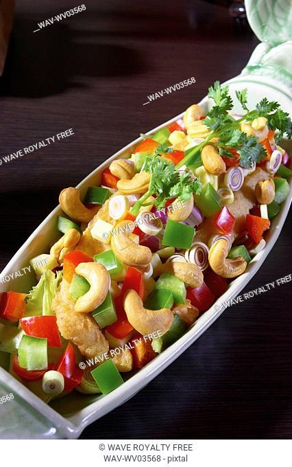 Cashew chicken dish