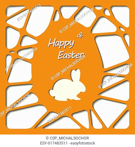 Happy easter cards illustration with easter egg