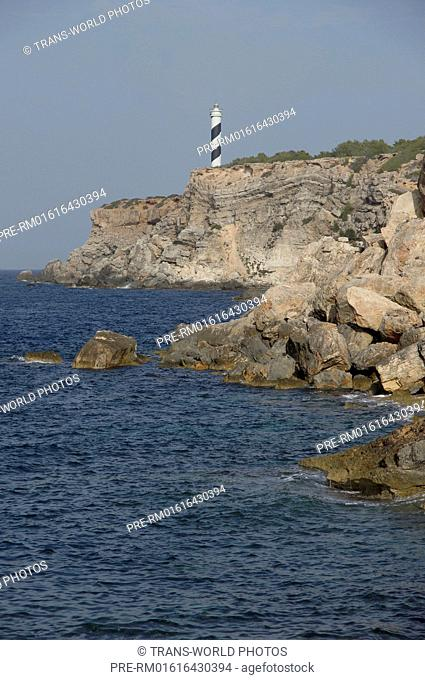 Lighthouse at Punta des Galera, Portinatx, Sant Joan de Labritja, Ibiza, Spain / Leuchtturm am Punta des Galera, Portinatx, Sant Joan de Labritja, Ibiza