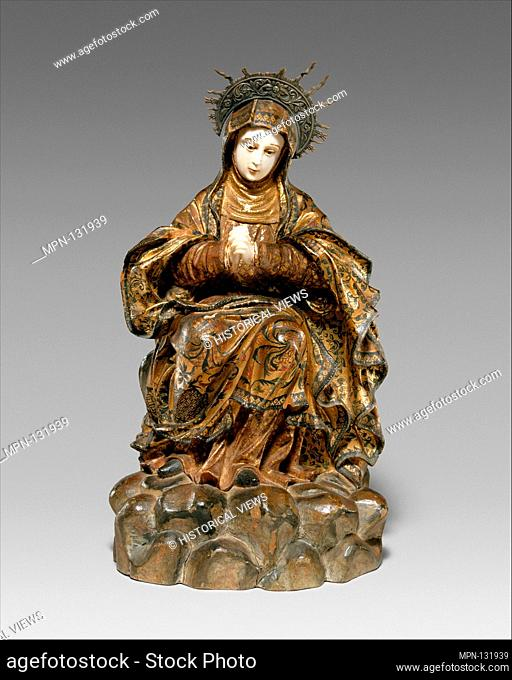 Mater Dolorosa (Mourning Virgin). Period: Qing dynasty (1644-1911); Date: 18th century; Culture: Sino-Spanish; Medium: Wood with pigments, gilding
