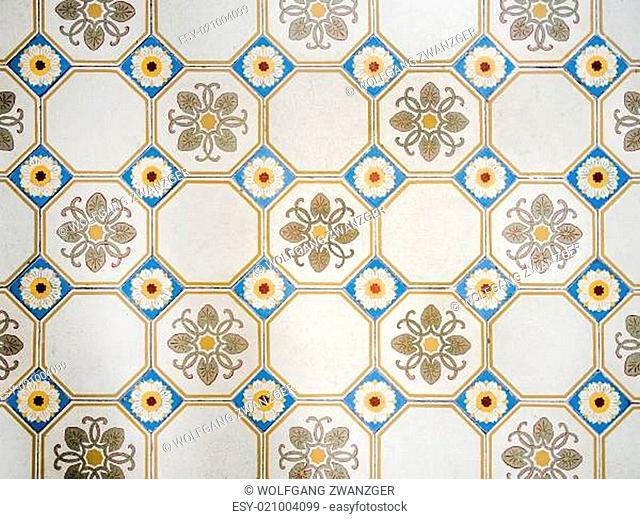 antique mosiac floor background