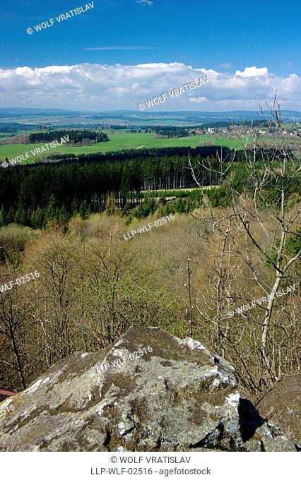 At the Top of Podhorni Hill, Karlovy Vary Region, the Western Bohemia, Czech Republic