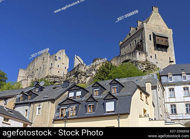 Europe, Luxembourg, Larochette, Chateau Fort Larochette (Larochette Castle) situated above the Village Centre
