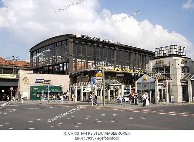 Zoo station (Bahnhof Zoologischer Garten), Hardenbergplatz, Berlin, Germany, Europe