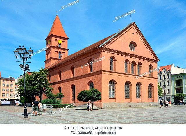 Church of Holy Trinity of 1824 on the New market square Rynek Nowomiejski in Torun - Poland