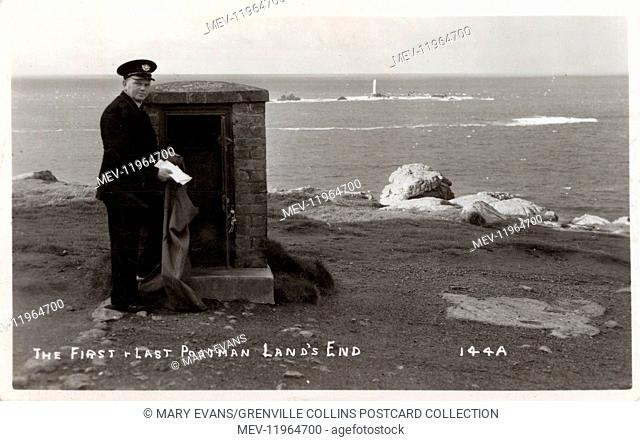 The First and Last Postman - Land's End, Cornwall