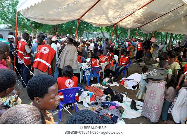 Congolese refugee camp in Uganda