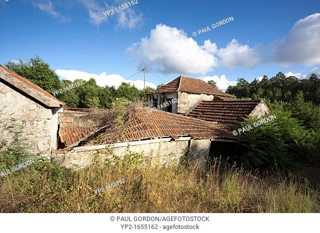 Abandoned homes in ruin near the city of Vila Real, Portugal - Vila Real District, Norte Region, Portugal