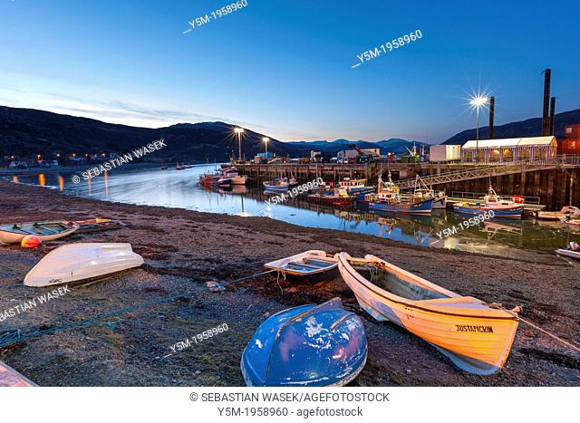 Fishing Port in Ullapool, Ross and Cromarty, Highland, Scotland, UK, Europe