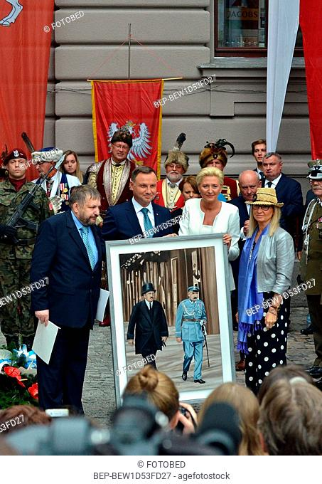 September, 11 2018 Cracow, Poland. Pictured: President of the Republic of Poland Andrzej Duda and the first lady Agata Duda