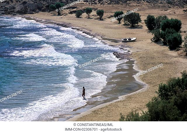 Psili Ammos Beach, Serifos, Cyclades, Greece