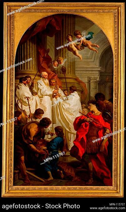 The Mass of Saint Basil. Artist: Pierre Hubert Subleyras (French, Saint-Gilles-du-Gard 1699-1749 Rome); Date: 1746; Medium: Oil on canvas