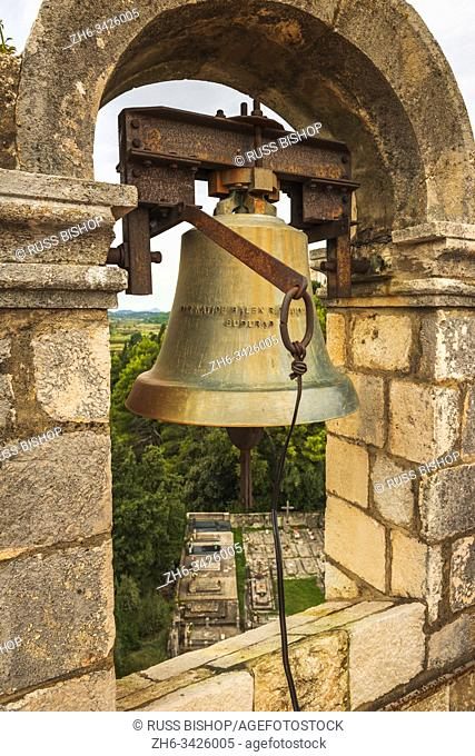 The bell tower at the Church of the Holy Spirit, Sipan Island, Dalmatian Coast, Croatia