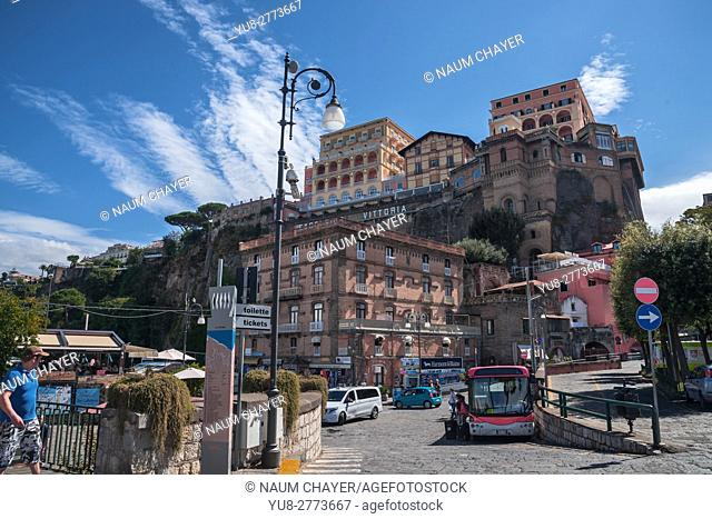 Famous Grand Hotel Excelsior Vittoria, Sorrento, Campania, Southern Italy, Europe