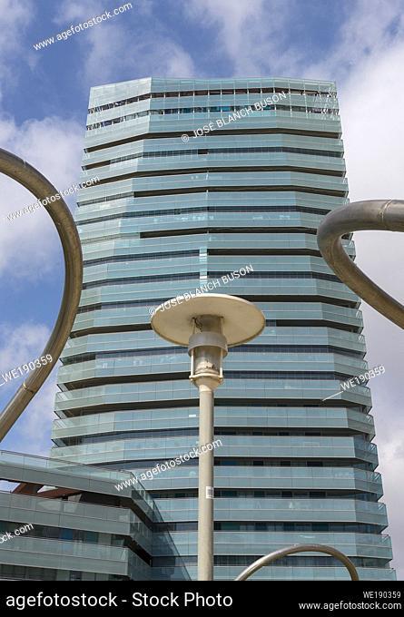Edificio en Diagonal Mar i el Front Marítim del Poblenou neighborhood. Barcelona. Catalonia. Spain