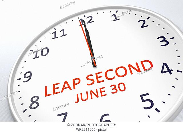 a clock showing leap second at june 30