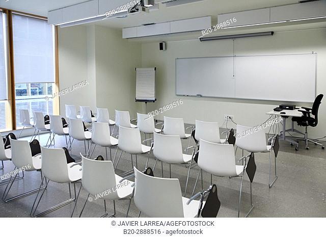 Classroom, Carlos Santa Maria Center, Gipuzkoa Campus Library, UPV, EHU, Basque Country University, Donostia, San Sebastian, Gipuzkoa, Spain, Europe