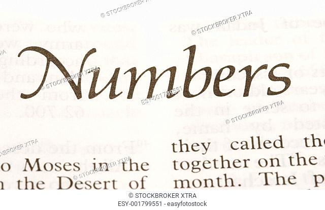 the fourth book of the Old Testament, recording the numbers of the Israelites who followed Moses out of Egypt