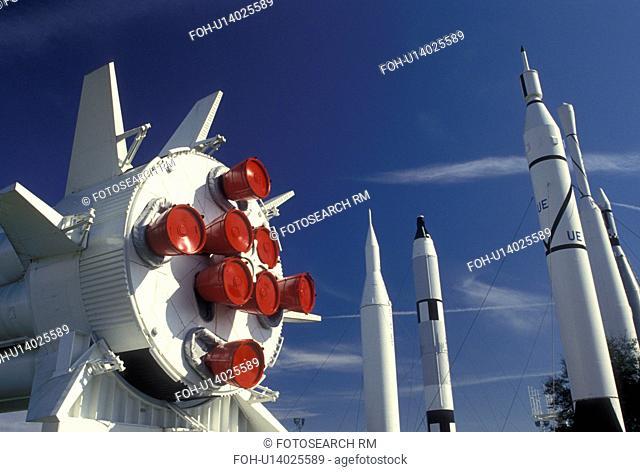 rocket, Kennedy Space Center, FL, Florida, Spaceport USA, Rocket Garden at Kennedy Space Center on Merritt Island