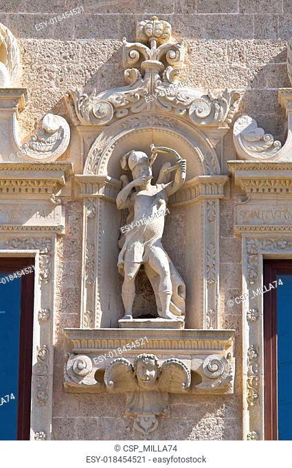 De Monti Castle of Corigliano d'Otranto. Puglia. Italy