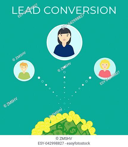 Monetization vector flat illustration .Business template. Modern background. digital marketing strategy illustration