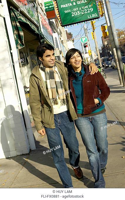 Couple on Street, Toronto, Ontario