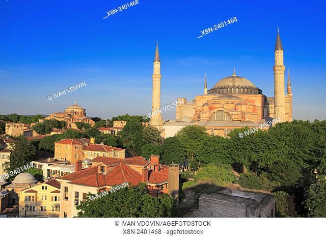 Hagia Sophia (537), right and Hagia Irene (548), left, Istanbul, Turkey
