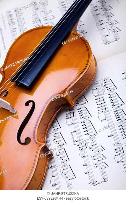 Black old violin Stock Photos and Images | age fotostock