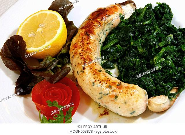 France, Normandy, Le Havre, blood sausage made of fishes