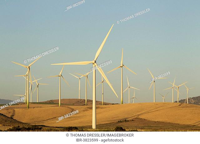 Windmills on a wind farm near Zahara de los Atunes, Cádiz province, Andalucía, Spain