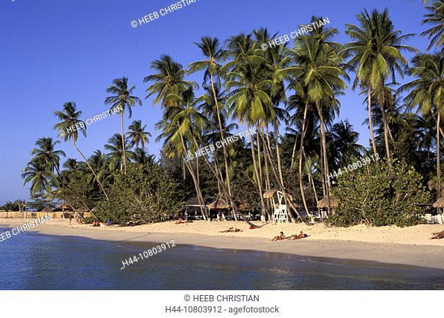 bathing, beach, holidays, palm trees, Pigeon Point, sea, seashore, Caribbean, Tobago, tourist, vacation