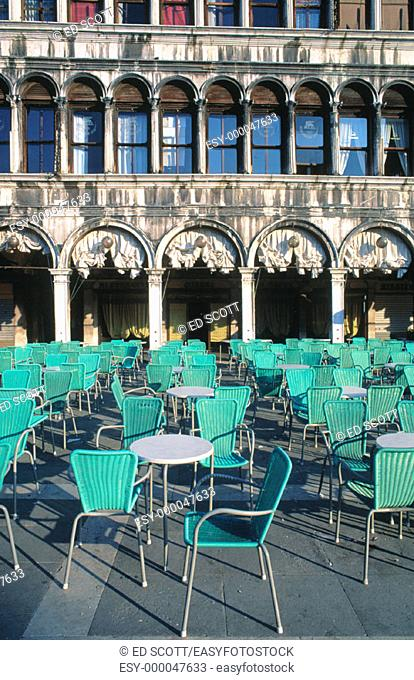 Outdoor cafe at St. Mark's Square. Venice. Italy