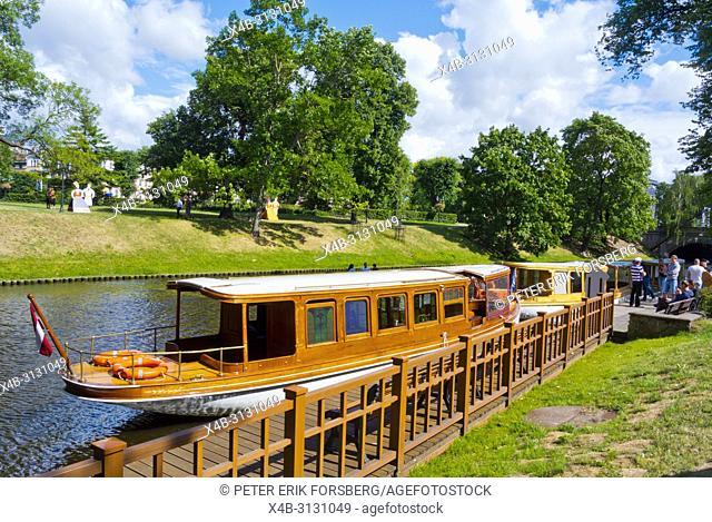 Pilsetas kanals, Bastejkalna parks, Riga, Latvia