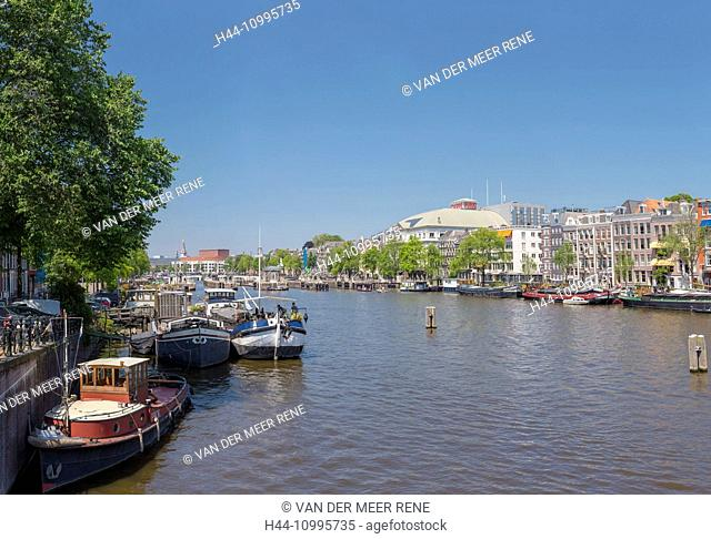 Boats on the river Amstel