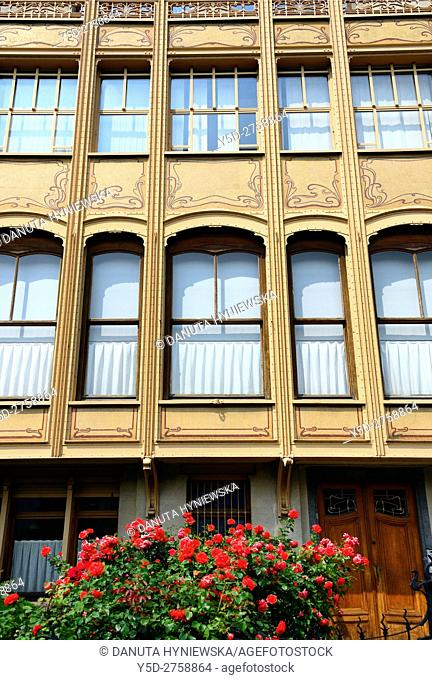Town house designed in 1895 by Victor Horta for Edmond van Eetvelde, together with Hotel Tassel, Hotel Solvay and the own House and atelier of Victor Horta it...