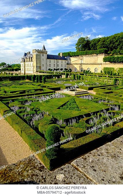 Castle of Villandry in the Loire Valley