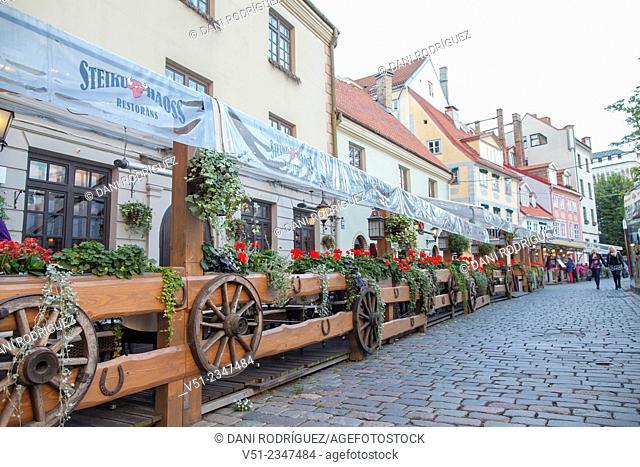 Street in Riga, Latvia