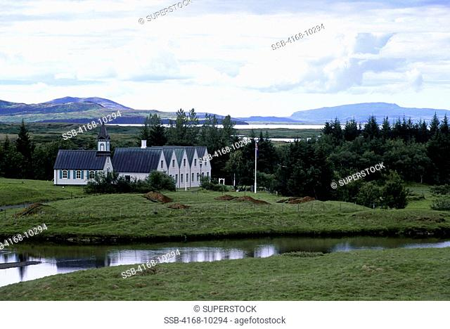 Iceland, Golden Circle, Thingvellir, Site Of The First Parliament, View Of Museum
