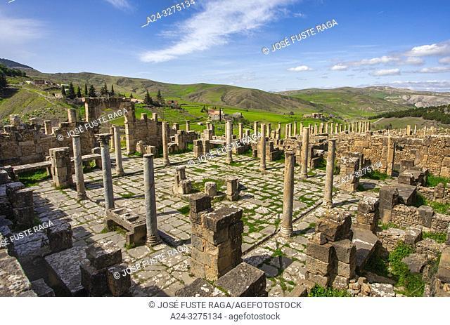 Algeria, Djemila City, Roman ruins of Djemila City, UNESCO, W. H. , The Capitol