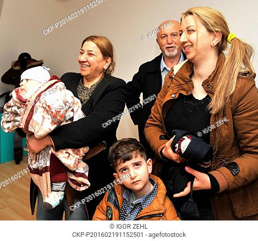 Refugees arrived in Brno, Czech Republic, February 19, 2016. The third group of 41 Christian refugees from Iraq arrived in the Czech Republic on February 19