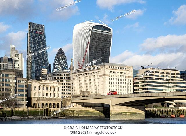 The City of London skyline, England