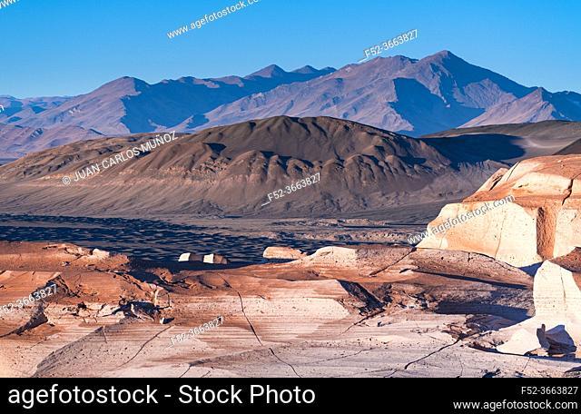 Eroded landscape, Campos de Piedra Pomez, El Peñón village, La Puna, Argentina, South America, America
