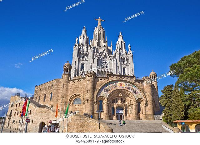 Spain, Catalonia, Barcelona City, Tibidabo Peak, Holly Heart Church