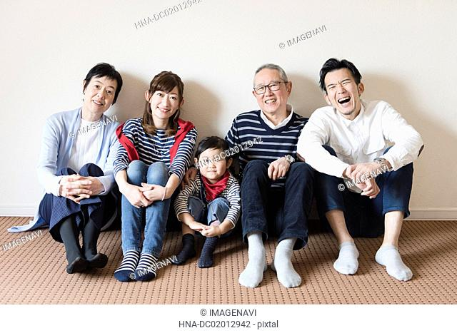 Image of three generations family