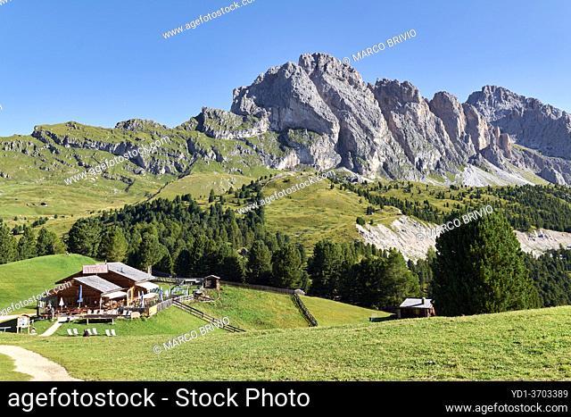 Col Raiser. Val Gardena. South Tyrol. Italy and the Puez Odle Geisler Natural Park